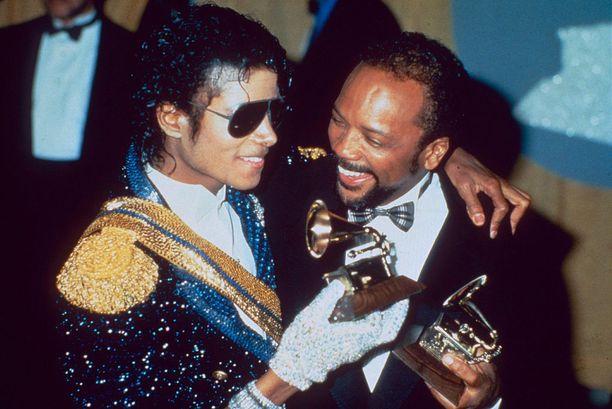 Michael Jackson ja Quincy Jones voittivat useita Grammy-palkintoja vuonna 1982 julkaistun Thriller-albumin ansiosta.
