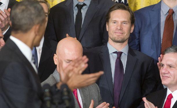Kimmo Timonen sai Barack Obamalta onnittelut Valkoisessa talossa.