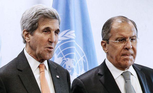 John Kerry ja Sergei Lavrov tapasivat syyskuussa YK:n huippukokouksessa.