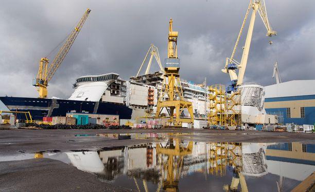 Vuonna 2015 Turun telakalla oli työn alla risteilyalus Mein Schiff 5.
