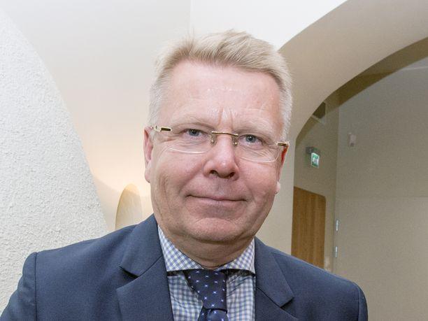 Toimitusjohtaja Jyri Häkämies esitteli EK:n tavoitteet seuraavalle hallituskaudelle.
