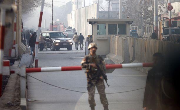 Itsemurhaisku tapahtui Kabulissa maanantaina.