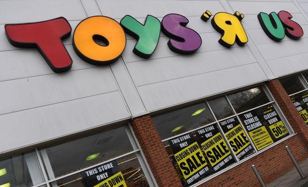 """Toys """"R"""" us -myymälöitä suljettiin alkuvuodesta Britanniassa ja Yhdysvalloissa. Pian lappuja saatetaan laittaa luukulle myös Pohjoismaissa."""