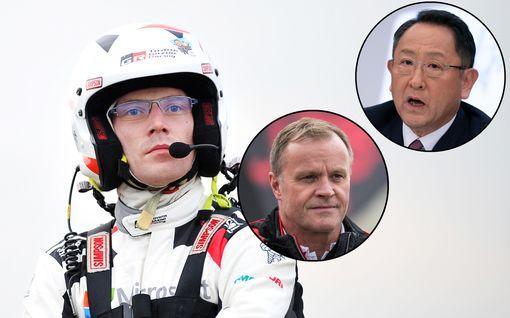 """Upea ele! Toyotan rallitallin isot pomot antoivat Jari-Matti Latvalalle satojen tuhansien arvoisen kädenojennuksen – """"Iso kiitos Tommille"""""""