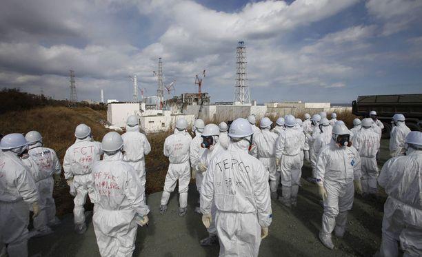 Fukushiman Daiichin ydinvoimalaa korjattiin vuonna 2012 edellisen suuren tsunamin jälkeen.