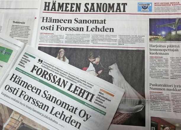 Lännen Median lehdet keskittyvät jatkossa enemmän paikallisiin sisältöihin. Arkistokuva.
