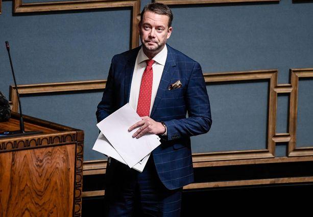RKP:n eduskuntaryhmän puheenjohtaja Stefan Wallin.