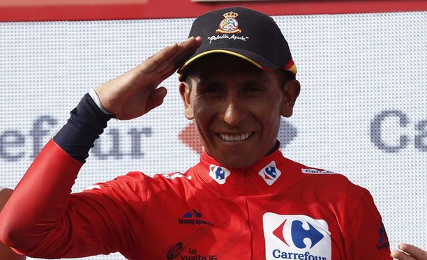Nairo Quintana on Vueltan valtias.