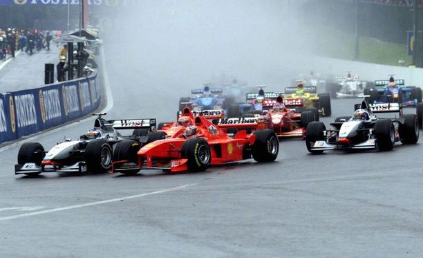 Belgian GP:n lähdön jälkeen rytisi vuonna 1998.