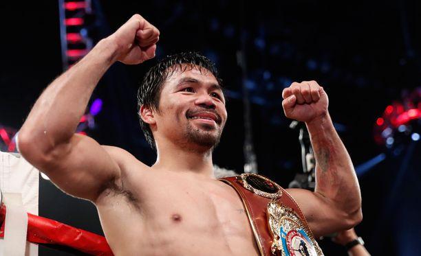 Manny Pacquiao on jälleen WBO-liiton välisarjan mestari.