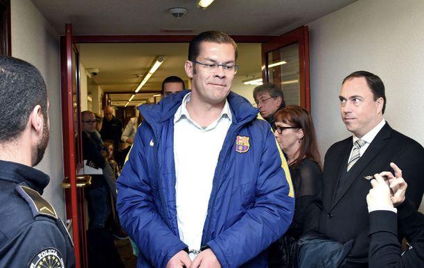 Ilja Janitskin edellisessä luovutusoikeudenkäynnissään Andorran oikeustalolla 19. lokakuuta.