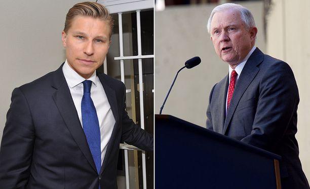 Oikeusministeri Antti Häkkänen tapasi kollegansa Jeff Sessionsin Washingtonissa.