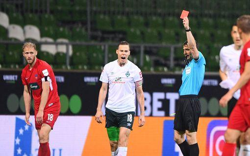 Niklas Moisander mollisävelten äärellä – pudottaako Heidenheim Werderin sarjaporrasta alaspäin?