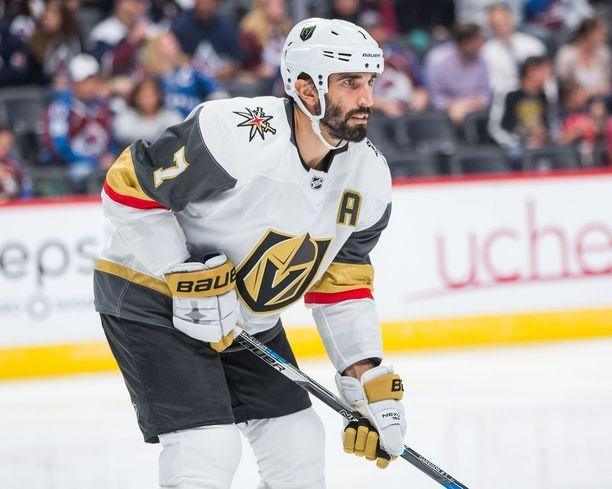 Puolustaja Jason Garrison kuuluu Las Vegas Golden Knightsin kokeneimpiin pelaajiin.