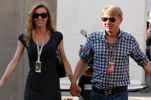 Marketa Remesova viihtyi Mika Häkkisen kanssa viikonloppuna Monacossa seuraamassa formulakisoja.