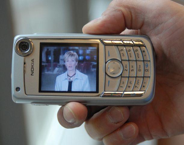 Mobiili-tv:stä voi katsella esimerkiksi tuoreita uutislähetyksiä.