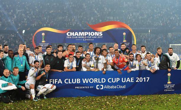 Real Madrid uusi seurajoukkueiden maailmanmestaruuden.