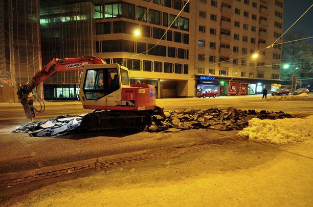 Helsingin Unioninkadun putkirikko.