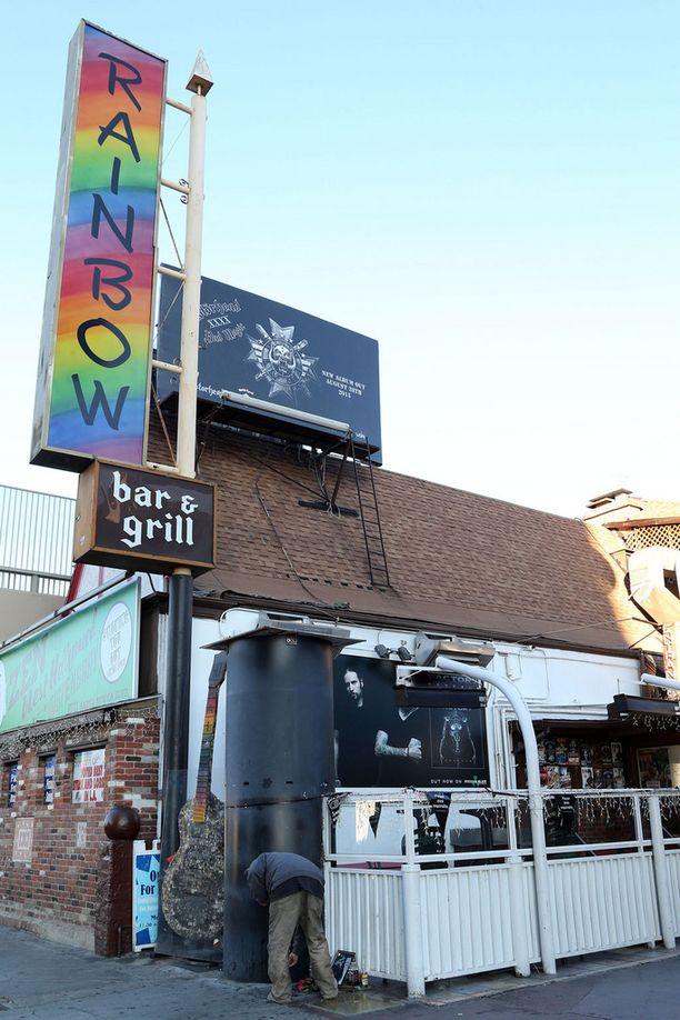 Rainbow-baari oli yksi Lemmyn lempikapakoista.