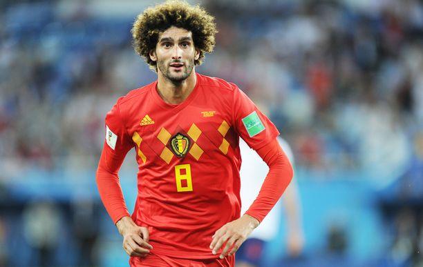 Marouane Fellaini oli aiempina vuosina vakiokasvo Belgian maajoukkueessa.