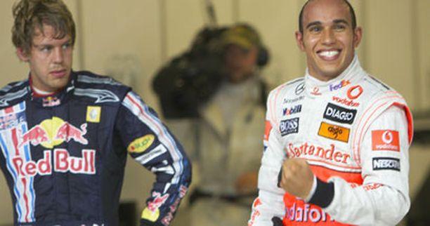 Lewis Hamilton oli omaa luokkaansa aika-ajoissa.