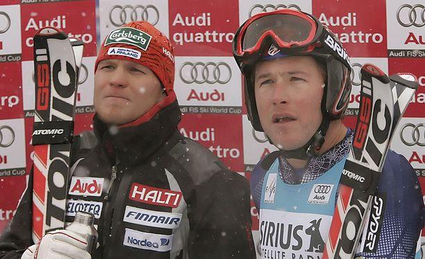 Kalle Palander ja Bode Miller olivat aktiivivuosinaan hyviä ystävyksiä.