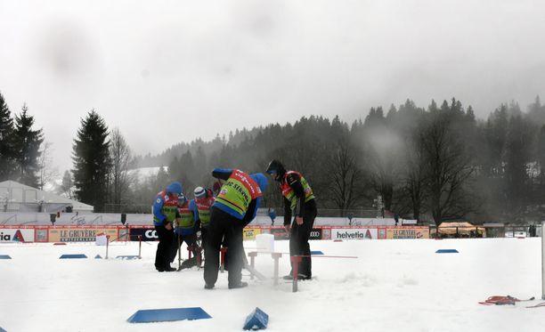 Tour de Skillä Oberstdorfissa on surkea hiihtosää.
