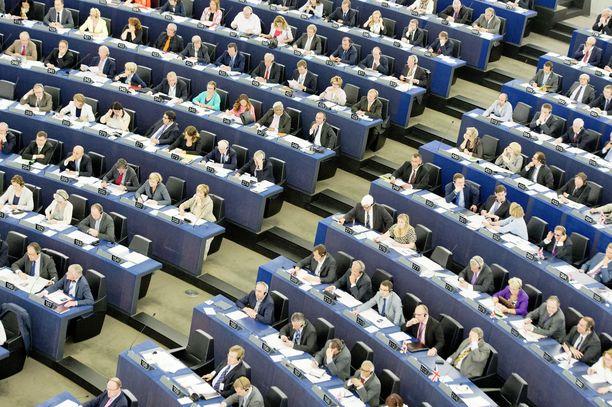 Euroopan parlamentin täysistunto Strasbourgissa.