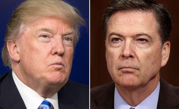 Trump erotti Comeyn yllättäen FBI:n johdosta. Comey nautti FBI:n sisällä suurta luottamusta.