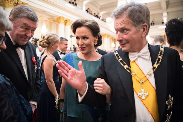 92-vuotias veteraani poistui pettyneenä vaimonsa kanssa juhlista, ennen kuin tasavallan presidentti Sauli Niinistö ja rouva Jenni Haukio vierailivat veteraanien kahvitilassa.