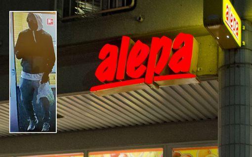 Naamioitunut ryöstäjä iski Alepaan Espoon Viherlaaksossa, uhkasi myyjää teräaseella – poliisi julkaisi epäillyn kuvan