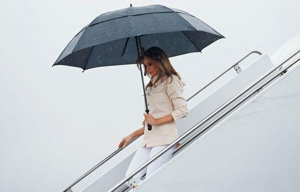 Melania Trump saapui Texasiin torstaina.