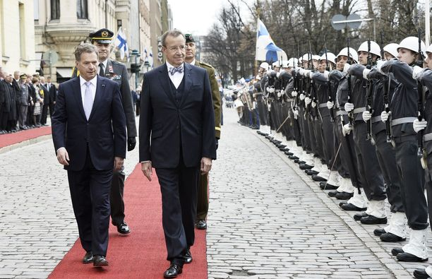 Sauli Niinistö ja Toomas Hendrik Ilves Suomessa 2014.