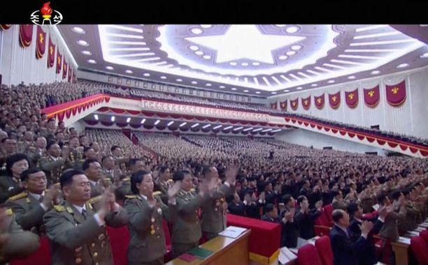 Pohjois-Korean valtiontelevisio näytti kuvaa avajaisista.