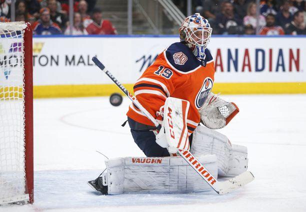 Mikko Koskinen pelaa hienoa kautta Oilersin maalilla.