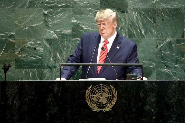 Donald Trump puhui tuimasti kansainvälisyyttä korostaville valtionjohtajille.