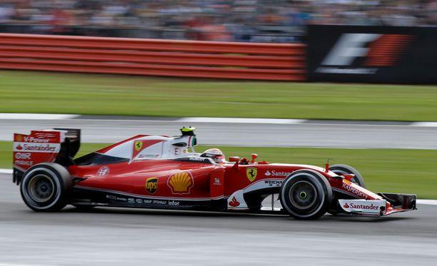 Kimi Räikkönen sijoittui Silverstonessa viidenneksi.