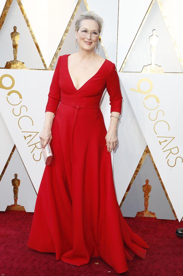 Konkari näyttelijä Meryl Streep on Oscar-voittaja.