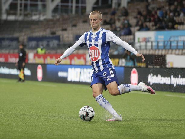 HJK:n maalisieppo Roope Riski oli yksi isäntien sankareista 6–1 -voitossa.