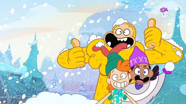 Keltainen Lumimies -sarjan päähahmot Gustav, Riitta ja Osmo kapinoivat suomalaisia sääntöjä vastaan oikein urakalla.