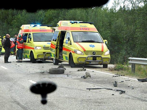 RAJU TÖRMÄYS Nokkakolari tapahtui Ivalon Ukonjärvellä viime sunnuntaina.