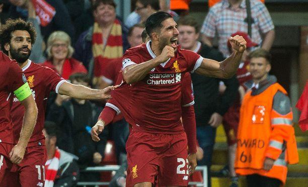 Liverpoolin Emre Can tykitti kaksi maalia Anfieldin huumaavassa euroillassa.
