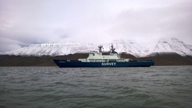 Merivoimien entinen lippulaiva Pohjanmaa on nykyään tutkimusalus Pohjanmeri.