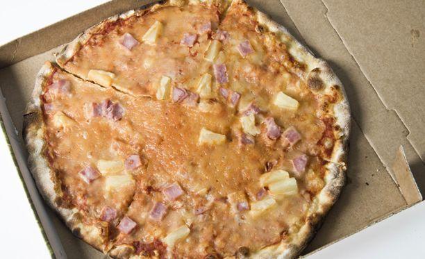 Miehet saivat haltuunsa kaksi pizzaa sekä pienen määrän rahaa. Kuvituskuva.
