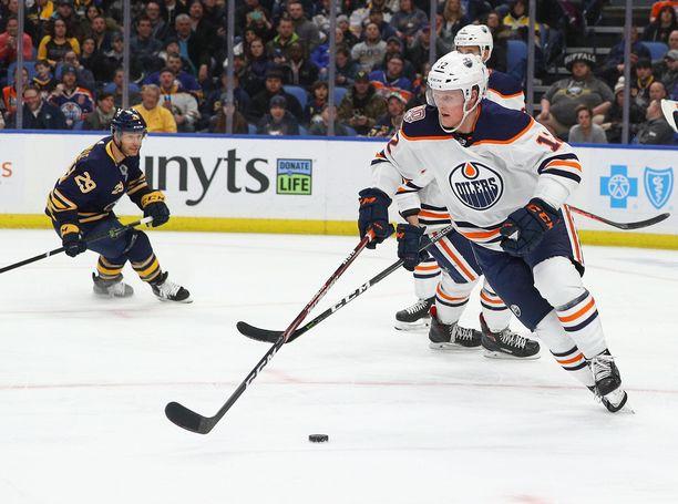 Colby Cave kiekkoili tällä kaudella Edmonton Oilersin riveissä.