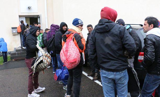 Turvapaikanhakijoita Torniossa syyskuussa.