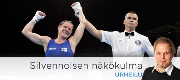 Mira Potkosen mitali löi painetta pois keihäsmiehiltä.