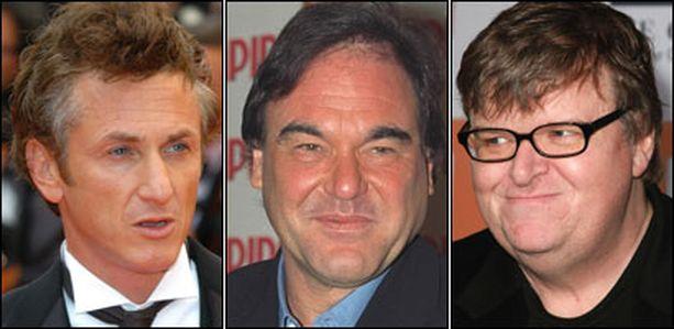Sean Penn, Oliver Stone ja Michael Moore ottavat elokuvissaan kantaa yhteiskunnallisiin asioihin.
