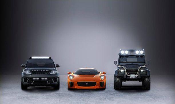 Range Rover, Jaguar ja Land Rover nätisti vierekkäin vielä toistaiseksi.