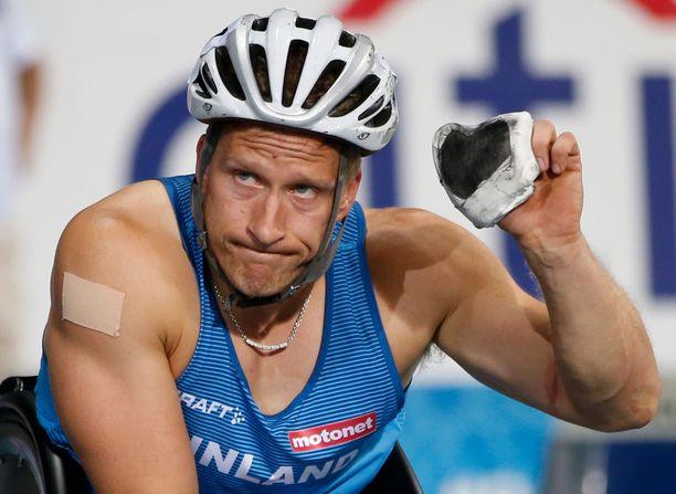 Leo-Pekka Tähti kelasi uransa neljännen maailmanmestaruuden ajalla 13,97.